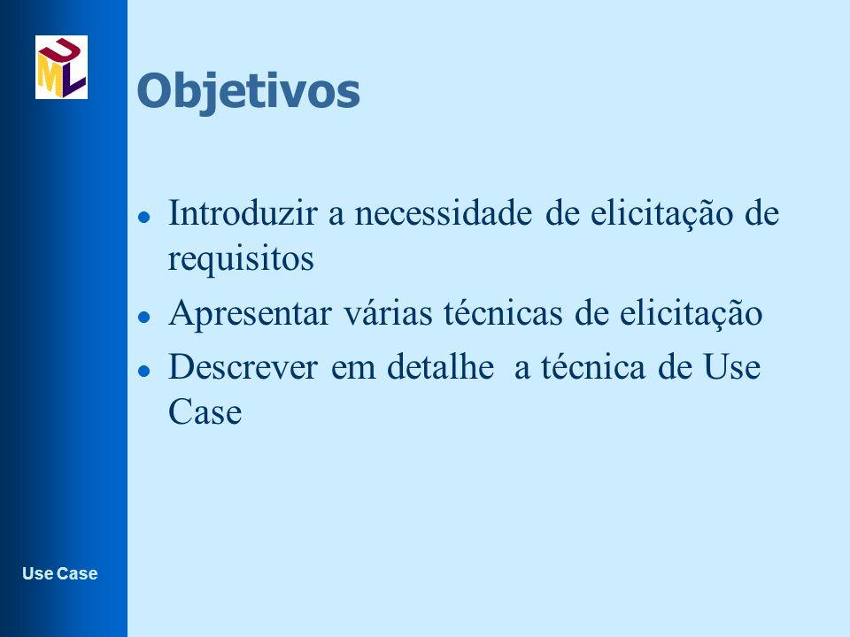 Use Case Extensão de use case l A extensão de um use case base por um use case de extensão especifica como o comportamento definido pelo use case de extensão pode ser inserido no comportamento do use case base.
