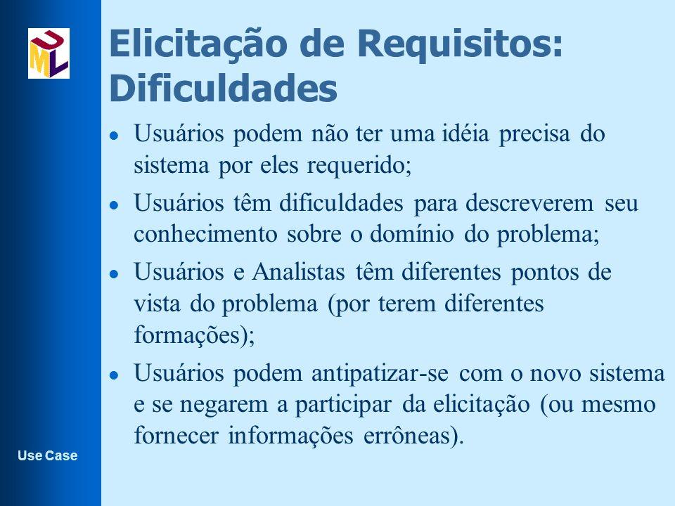 Use Case l Atores que estão relacionados com a supervisão e manutenção do sistema são chamados de agentes secundários l Atores do sistema de reciclagem : –O cliente –O operador l Eles são entidades do ambiente do sistema, que interagem com ele.