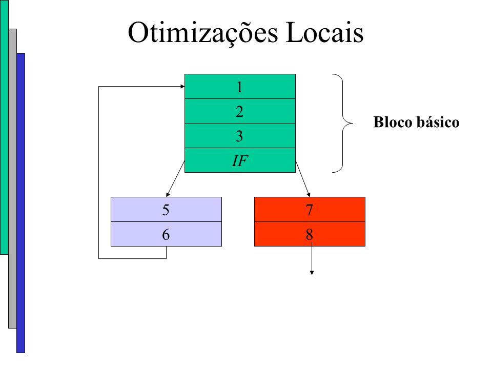 Otimizações Locais 1 2 3 IF 57 68 Bloco básico