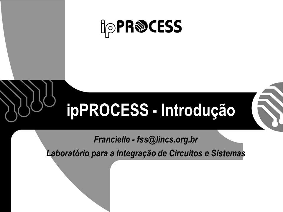 12/07/07 Francielle Santos 32 ipPROCESS Processo de desenvolvimento de Soft IP-cores com prototipação em FPGA: Define um conjunto de atividades para determinados papéis na organização; Transforma os requisitos no IP-core desejado.