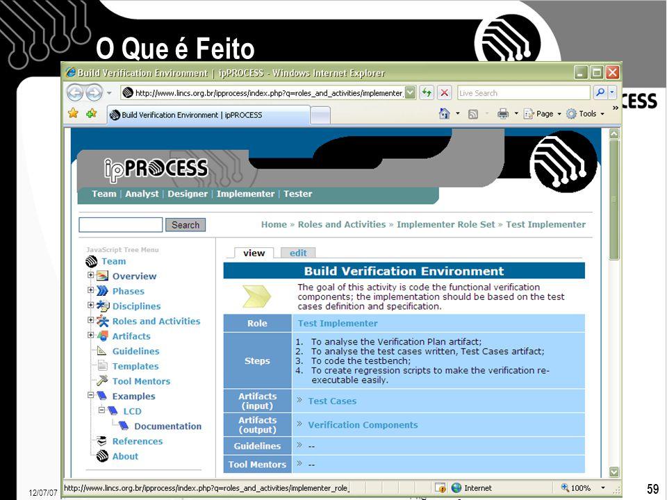 12/07/07 Francielle Santos 59 O Que é Feito