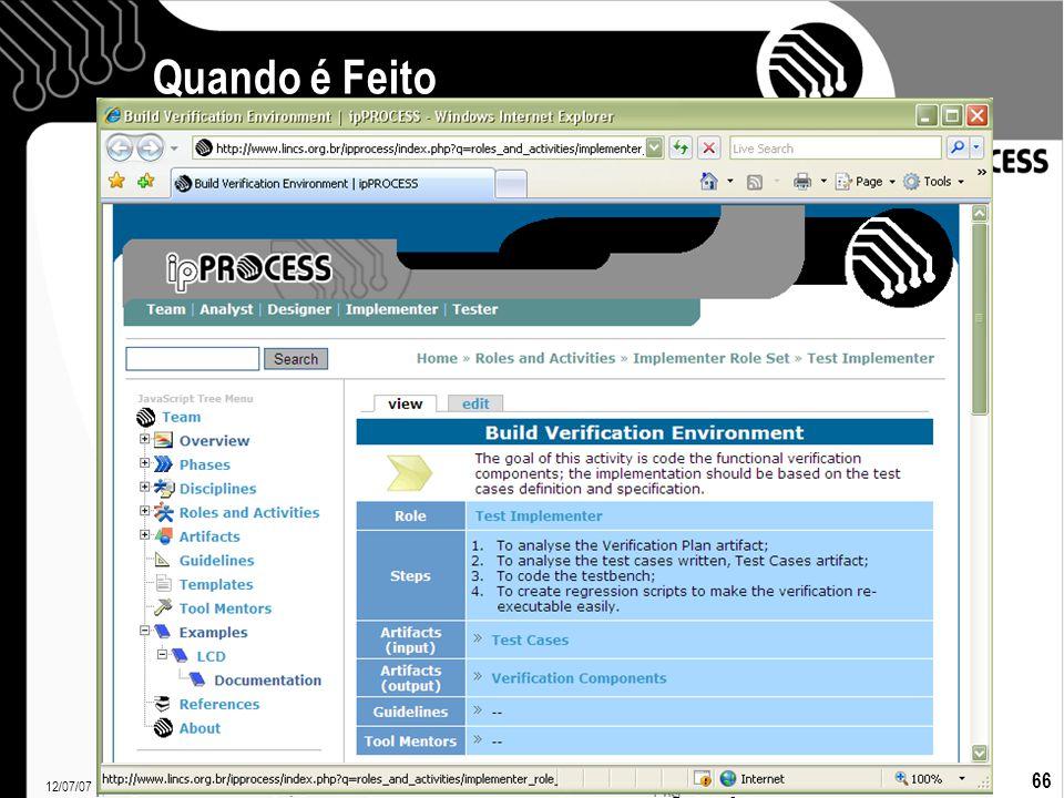 12/07/07 Francielle Santos 66 Quando é Feito