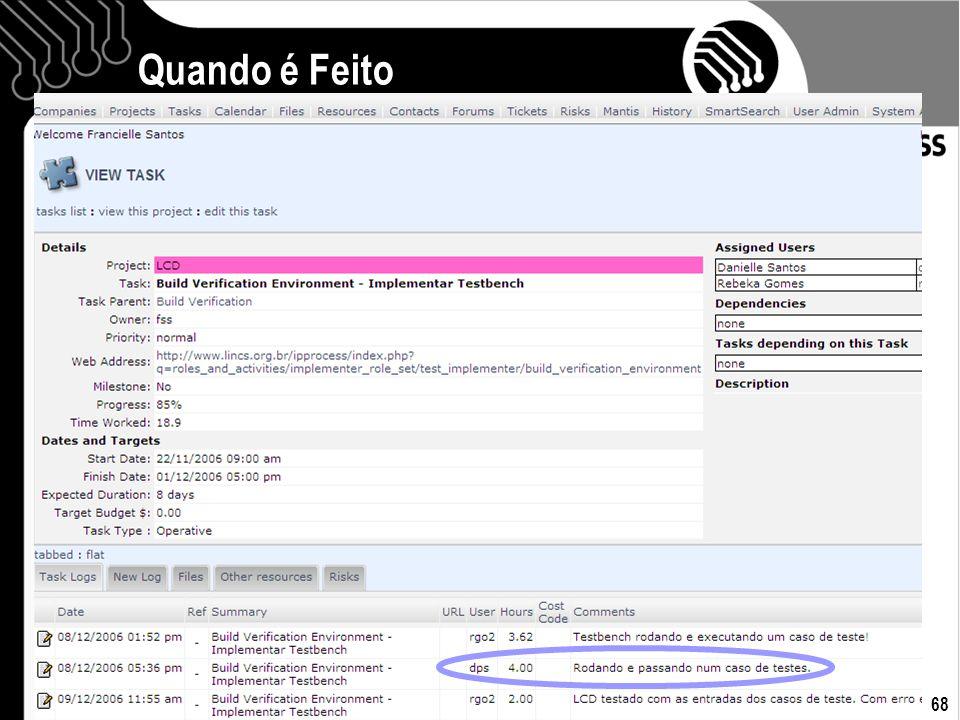 12/07/07 Francielle Santos 68 Quando é Feito
