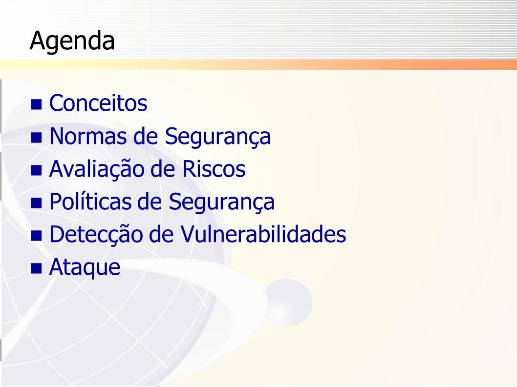 Norma NBR 17799 NBR ISO/IEC 17799  Versão brasileira da norma ISO, homologada pela ABNT em setembro de 2001  Tradução literal da norma ISO  www.abnt.org.br No Brasil, deve-se usar a norma brasileira  Em outros países, recomenda-se verificar se existe uma norma local Detalhe importante:  Deve-se pagar pelas normas 