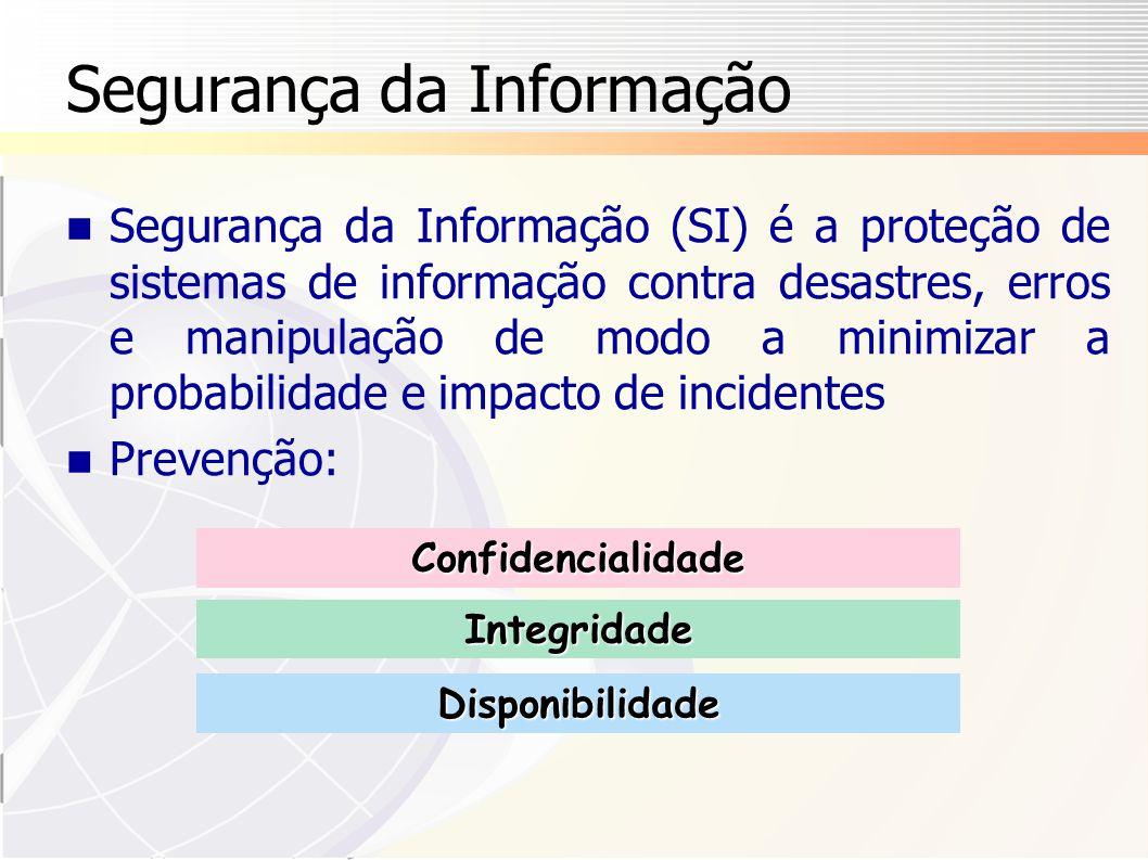 Vantagens das Normas (2 # 2) Maior confiança mútua entre parceiros comerciais Custos possivelmente menores para seguros de riscos computacionais Melhores práticas de privacidade e conformidade com leis de privacidade