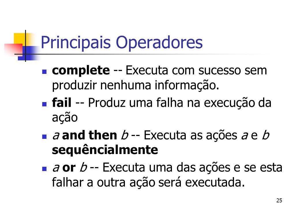 24 Definição A faceta básica define operadores que não manipulam nenhum tipo de informação apenas controlam o fluxo do programa