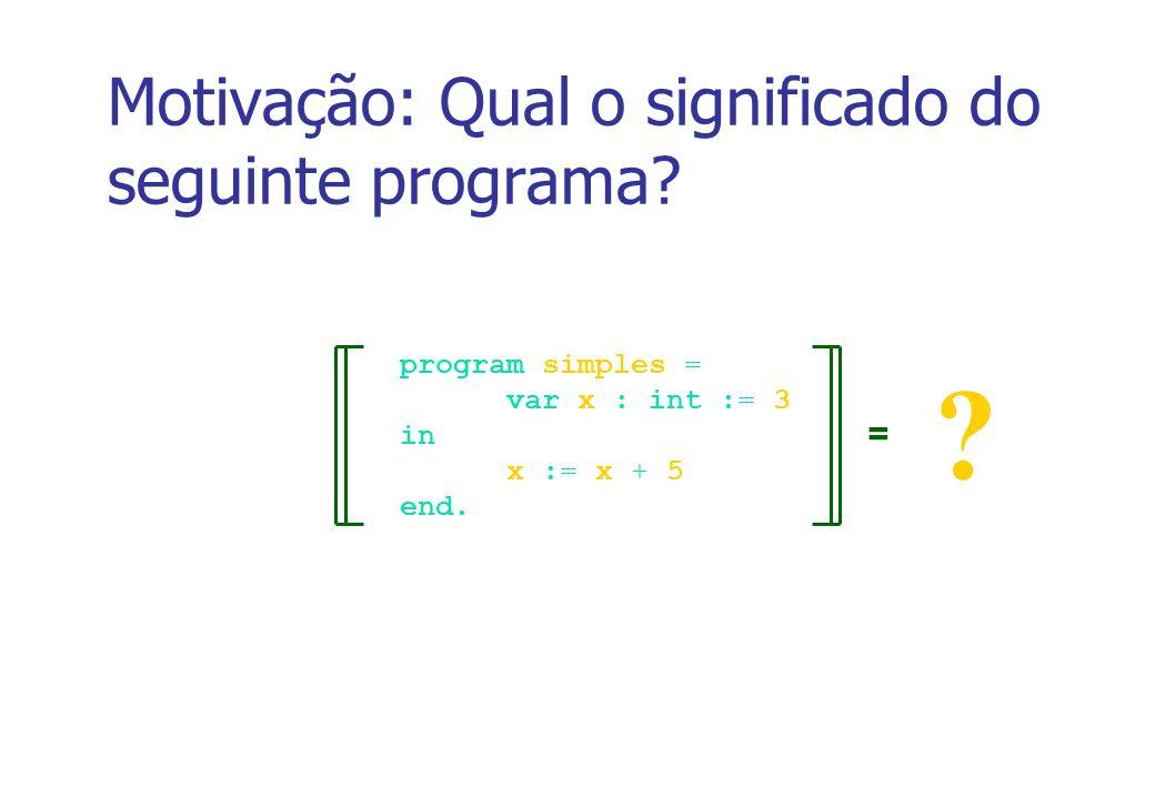 2 Objetivo Introduzir conceitos de semântica formal de linguagens de programação