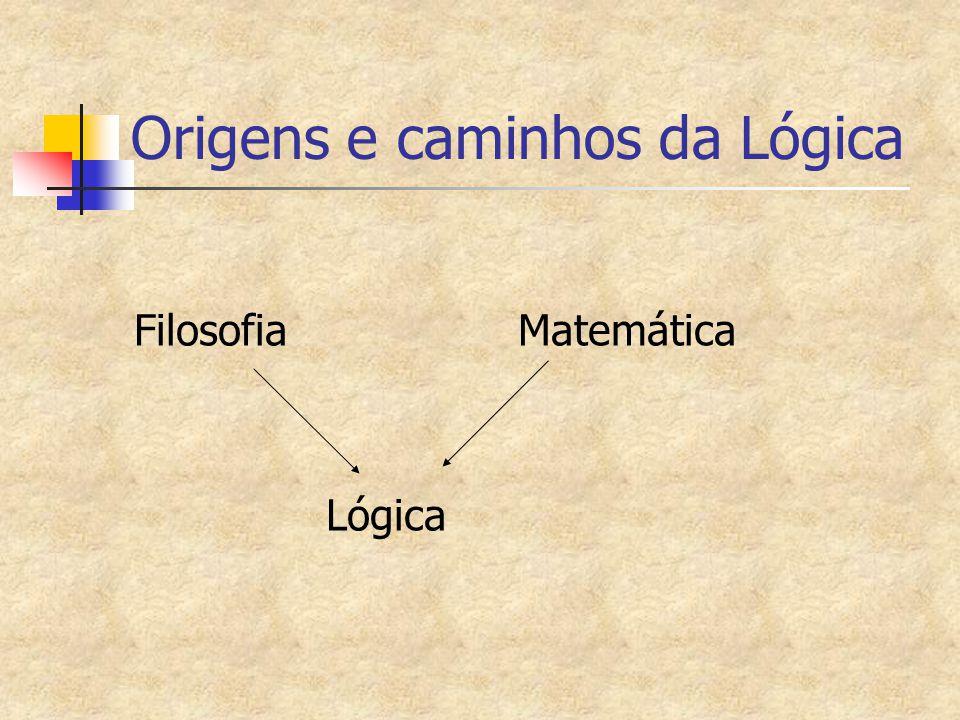Origens e caminhos da Lógica Filosofia Matemática Lógica
