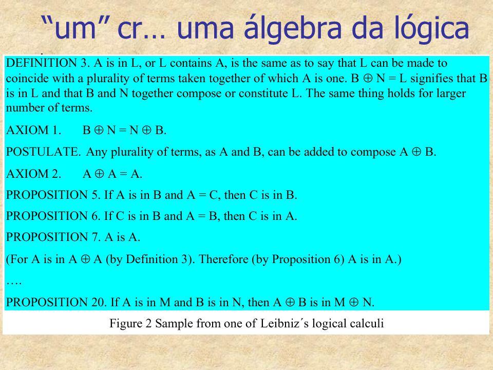 """""""um"""" cr… uma álgebra da lógica"""