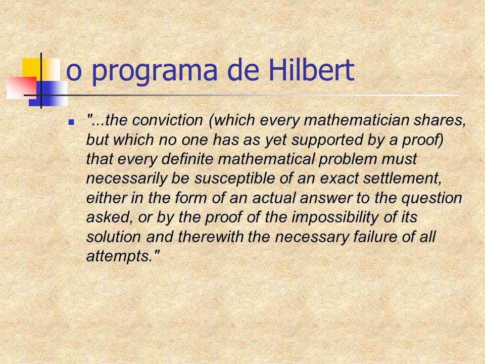 o programa de Hilbert
