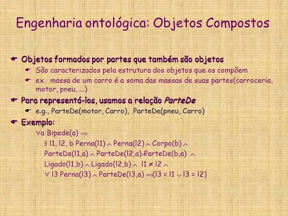 Linguagens de representação de ontologias  Lógicas descritivas: LOOM, Classic, FaCT,...