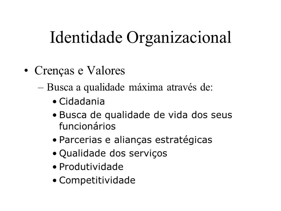 Identidade Organizacional Descrição Vívida – Atuar no mercado europeu num prazo de 5 anos, conquistando um grande número de clientes e sendo um referencial de desenvolvimento de interfaces para área financeira na América Latina e na Europa.