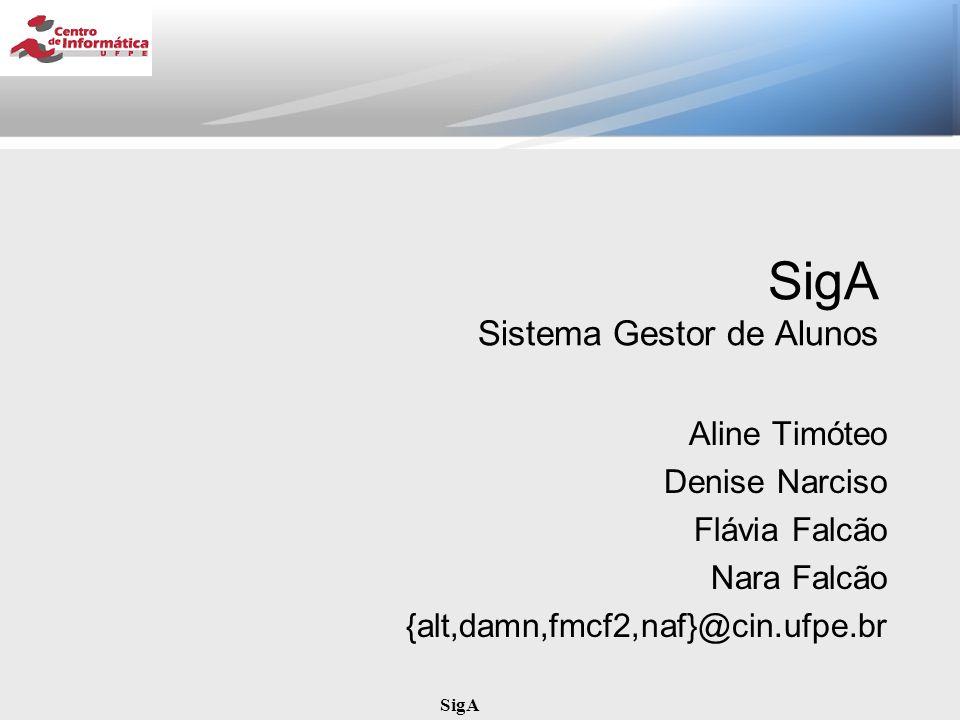 SigA Índice Descrição do Sistema Requisitos Funcionais do SigA Processo de Análise Pesquisar Alunos por Disciplina Exibir Relatório do Mecanismo de Inferência Consultar Inadimplentes Pacotes Capsulas Subsistemas Conclusão
