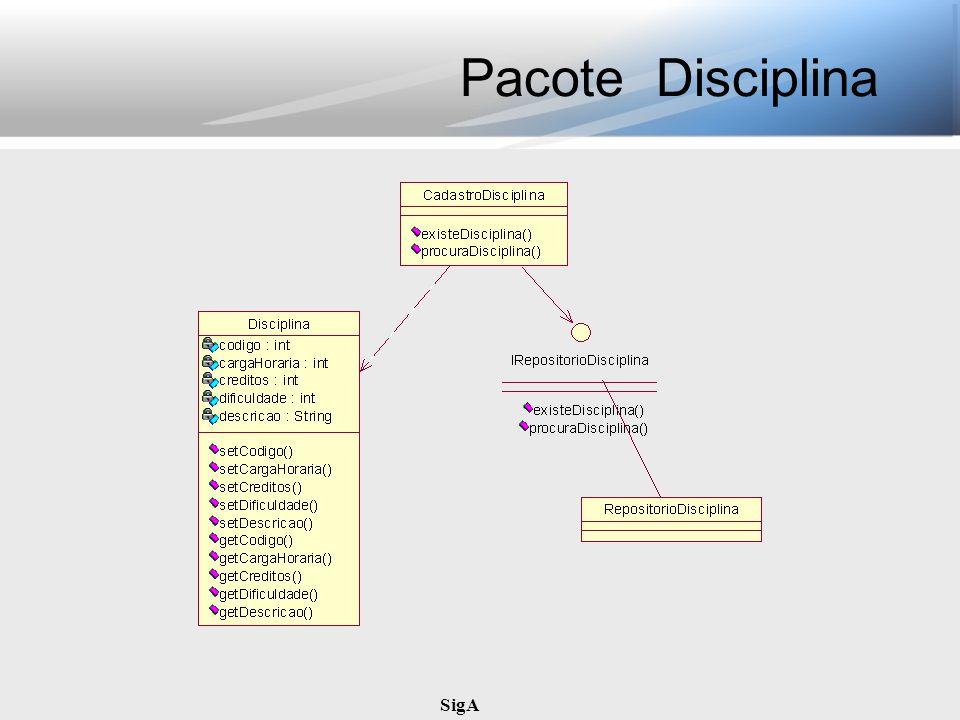 SigA Pacote Disciplina