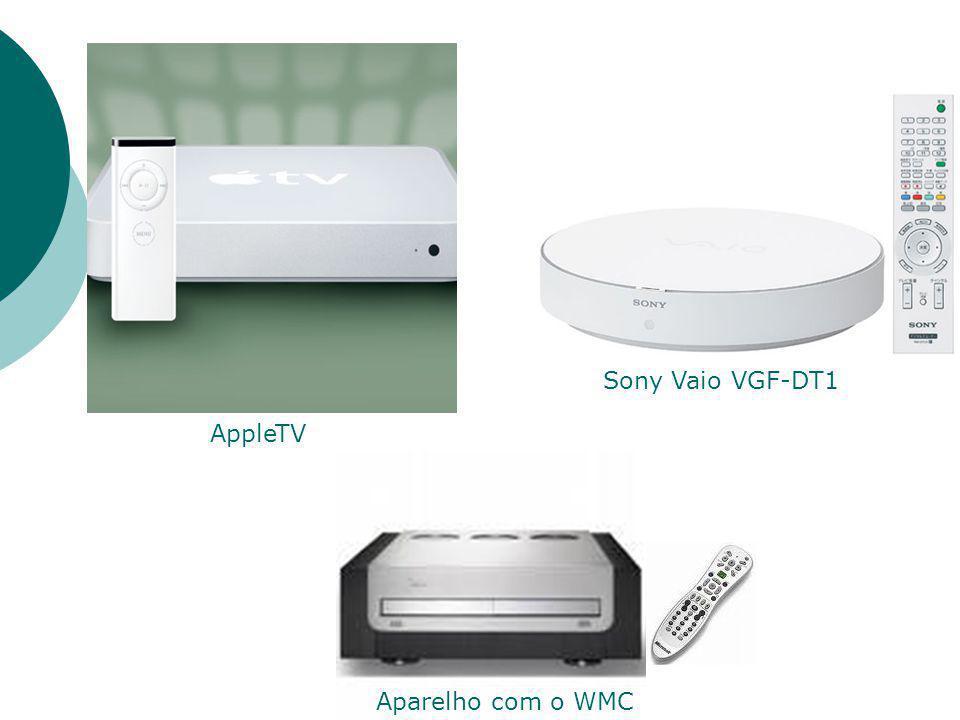 AppleTV Sony Vaio VGF-DT1 Aparelho com o WMC