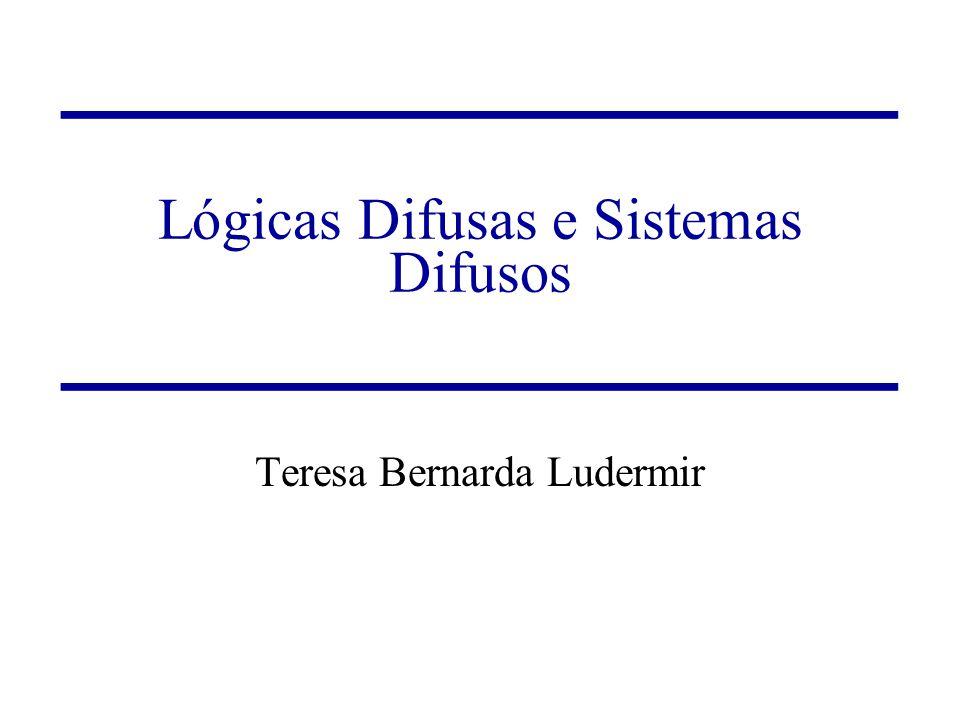 Lógicas Difusas e Sistemas Difusos Teresa Bernarda Ludermir