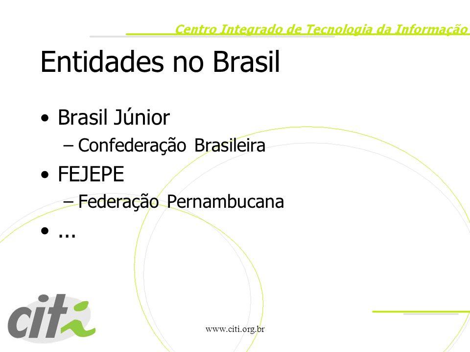 www.citi.org.br CITi no ENEEJ Atividades –Reunião Presencial da Brasil Junior –Stand –Divulgação da EJ e portfolio de serviços –Relatório das atividades do evento