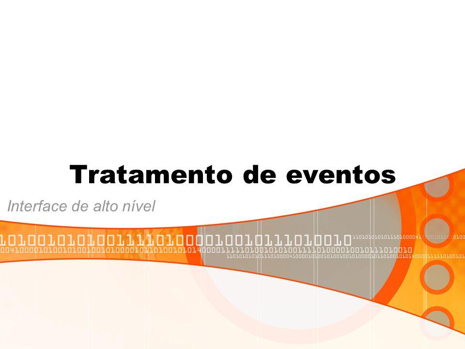 Tratamento de eventos Interface de alto nível