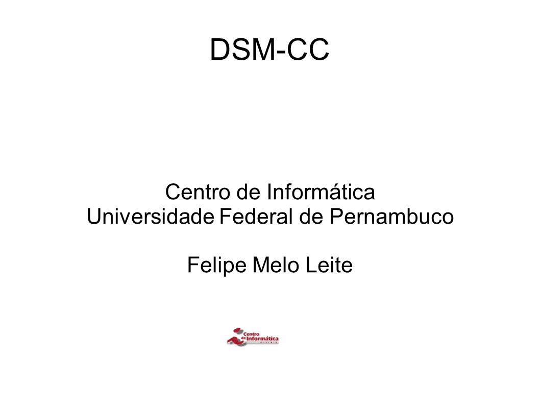 DSM-CC – Encapsulamento DSM-CC suporta servirços de broadcast de dados que necessitam transmissão de datagramas de protocolos de comunicação via rede DVB a transmissão de datagramas é feita pelo encapsulamento de datagramas em seções DSM-CC, que seguem o formado de seção privada MPEG-2 private section format A especificação de broadcast de dados suporta um mecanismo padrão para sinalização de serviços IP/MAC implantados nas redes DVB e permite a implementação de receptores DVB que são completamente self-tuning quando acessam streams IP/MAC em um ou mais streams de transporte O mecanismo de sinalização é feito através INT(IP/MAC Notification Table).