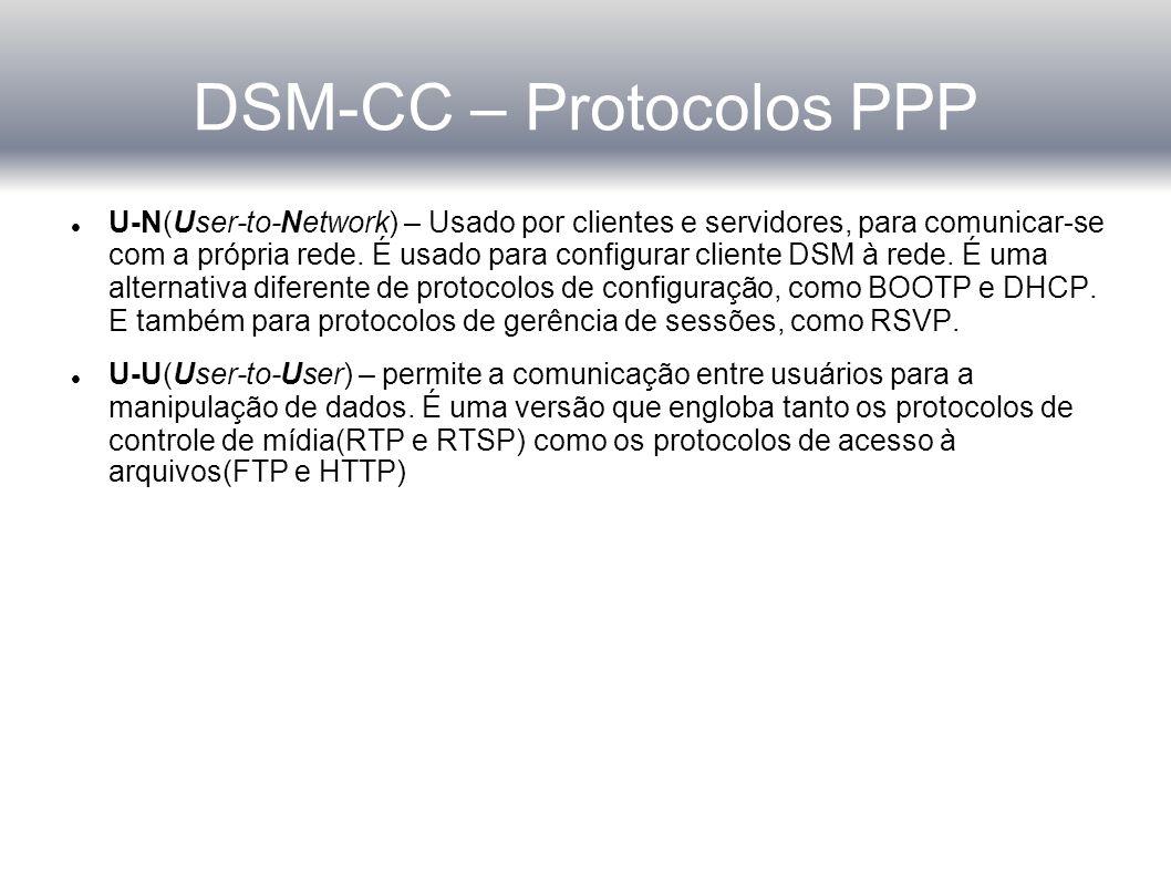 DSM-CC – Finalizando sessão Quando o servidor quer finalizar a sessão, é usada a server-initiated session release sequence