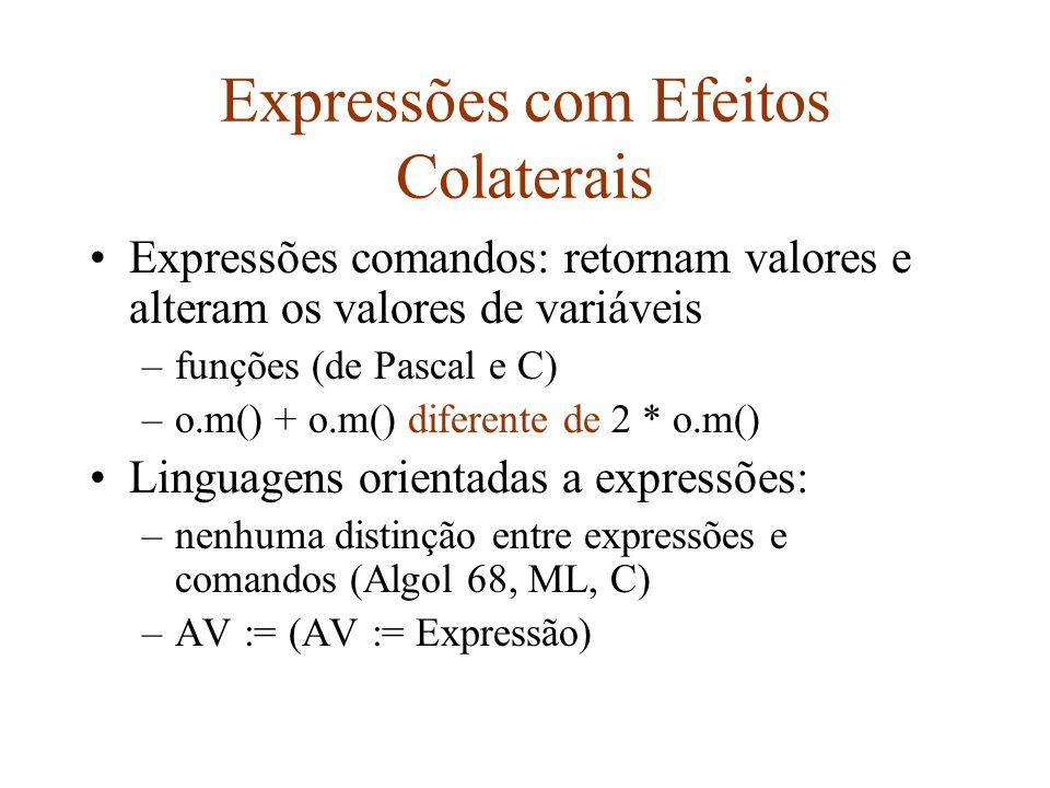 Leitura Programming Language Concepts and Paradigms –Capítulo 3 (exceto a Seção 3.5.3)