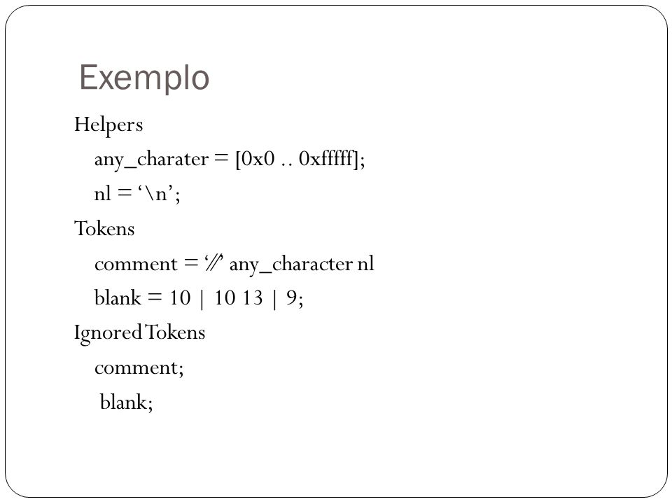 Exemplo Helpers any_charater = [0x0..