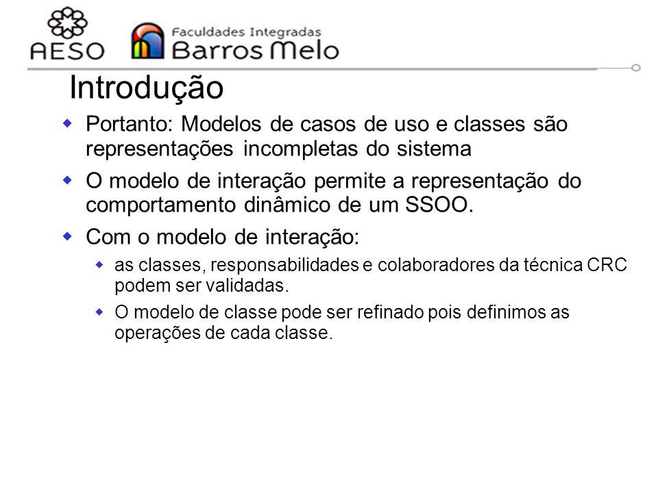 15/8/2014Engenharia de software orientada a objetos 120 Introdução  Portanto: Modelos de casos de uso e classes são representações incompletas do sis