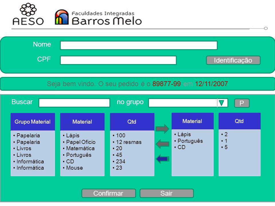 15/8/2014Engenharia de software orientada a objetos 148 Protótipo Grupo Material Papelaria Livros Informática Material Lápis Papel Oficio Matemática P