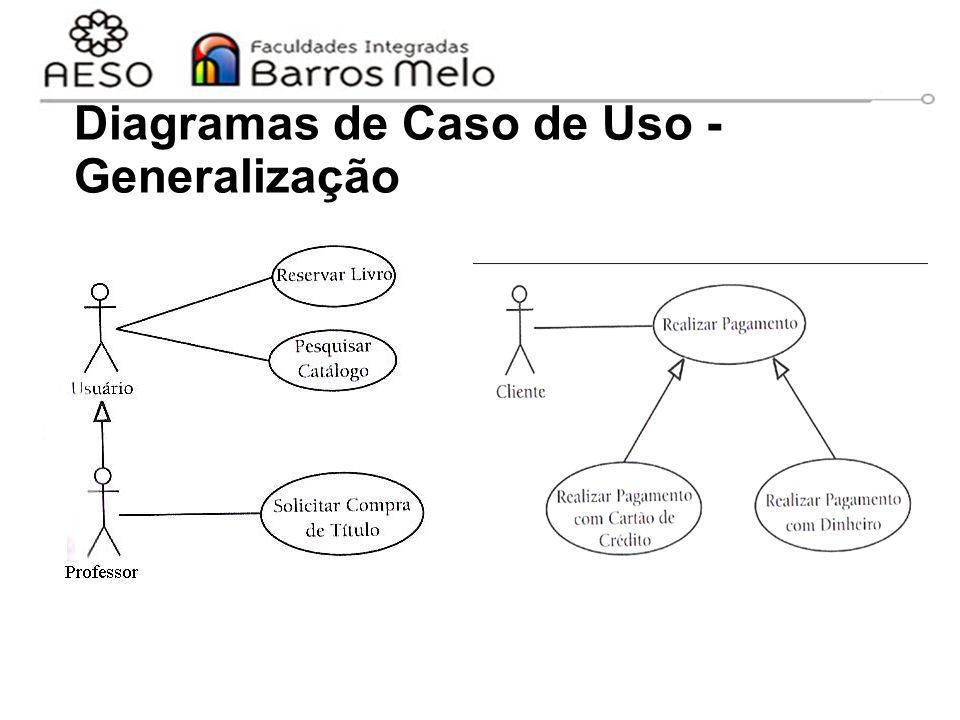 15/8/2014Engenharia de software orientada a objetos 41 Diagramas de Caso de Uso - Generalização