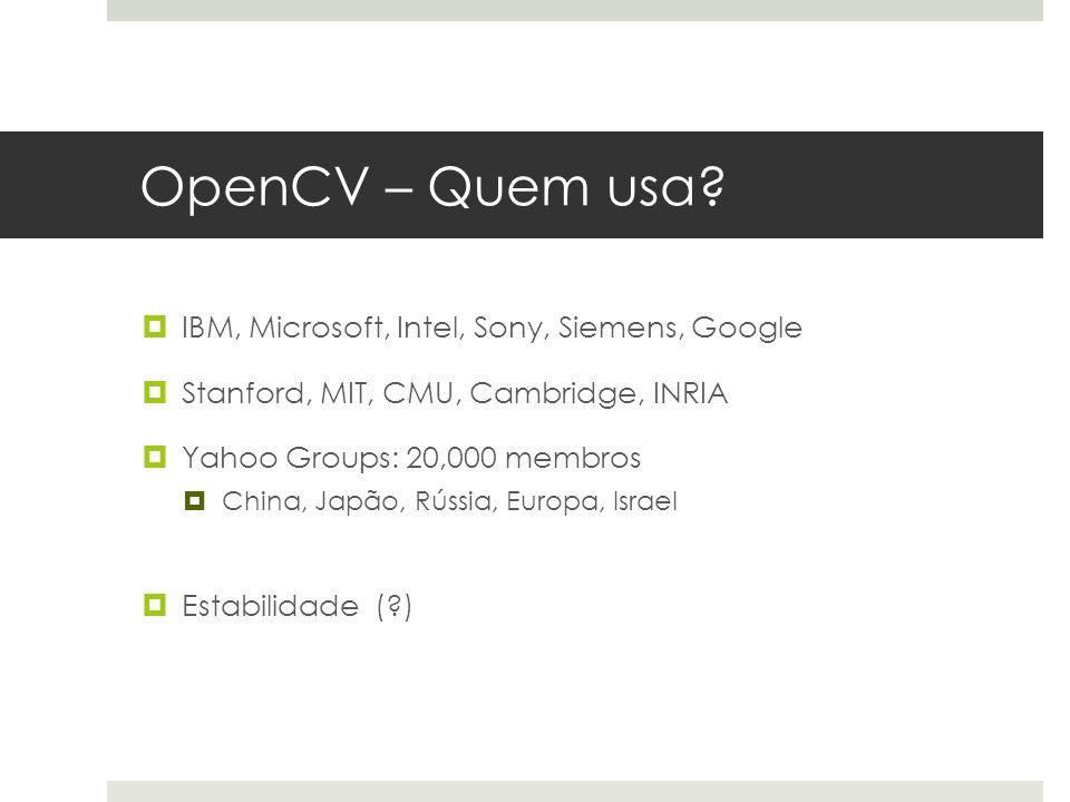 OpenCV – Quem usa.