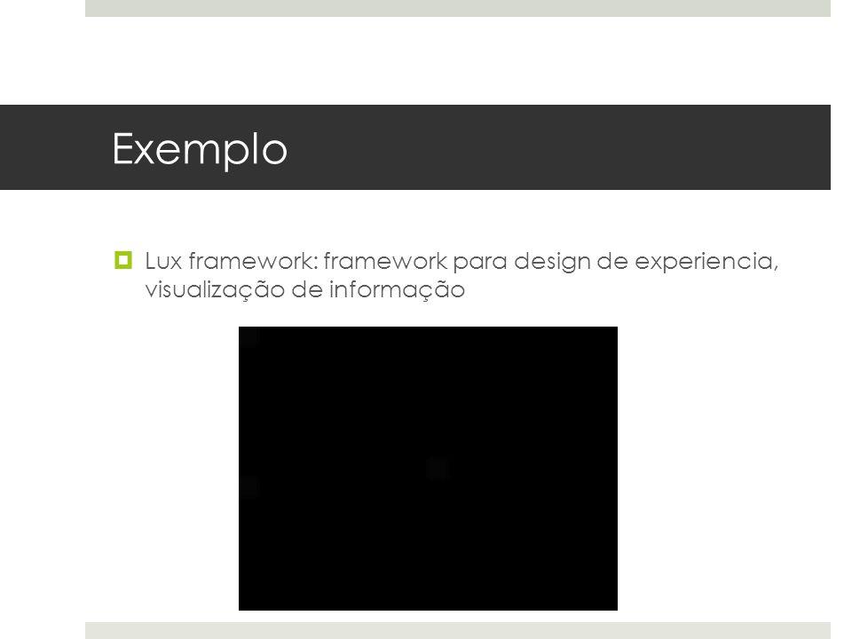 Exemplo  Lux framework: framework para design de experiencia, visualização de informação