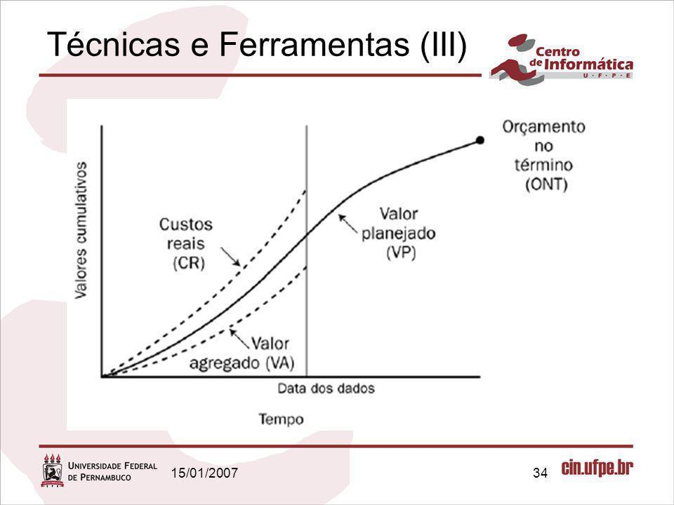 15/01/200734 Técnicas e Ferramentas (III)