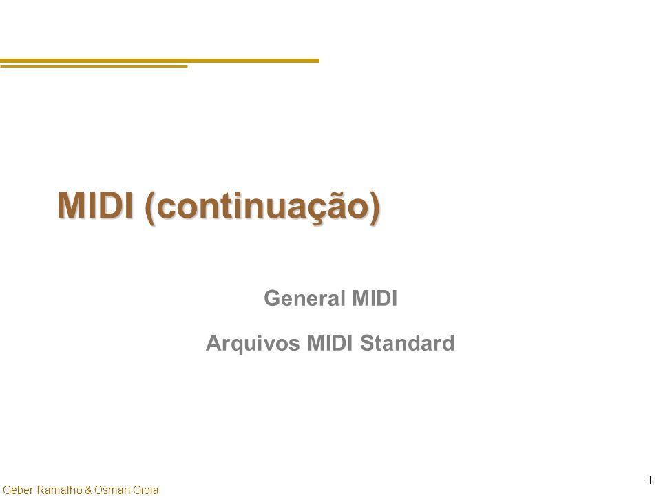 Geber Ramalho & Osman Gioia 1 MIDI (continuação) General MIDI Arquivos MIDI Standard