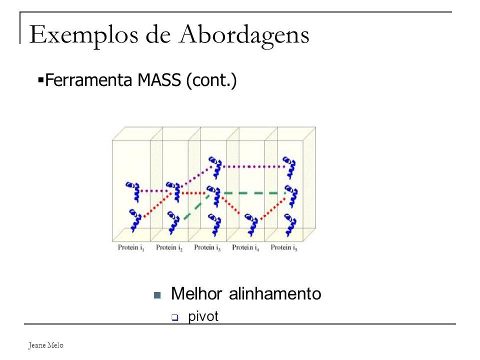 Jeane Melo Exemplos de Abordagens Melhor alinhamento  pivot  Ferramenta MASS (cont.)
