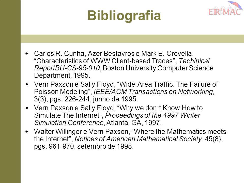 " Carlos R. Cunha, Azer Bestavros e Mark E. Crovella, ""Characteristics of WWW Client-based Traces"", Techinical ReportBU-CS-95-010, Boston University C"