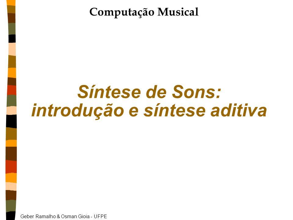 Geber Ramalho & Osman Gioia - UFPE Síntese de Sons: introdução e síntese aditiva Computação Musical