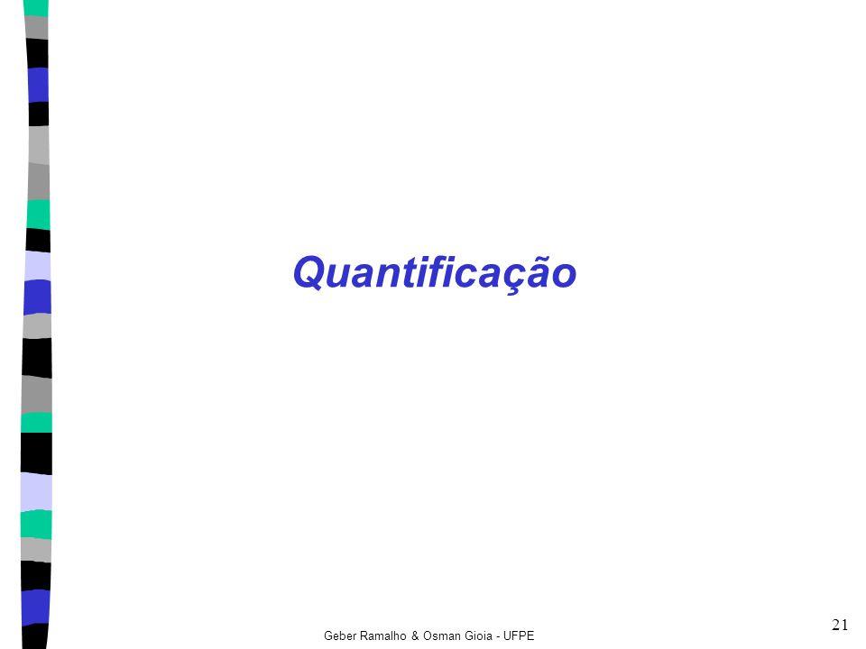 Geber Ramalho & Osman Gioia - UFPE 21 Quantificação