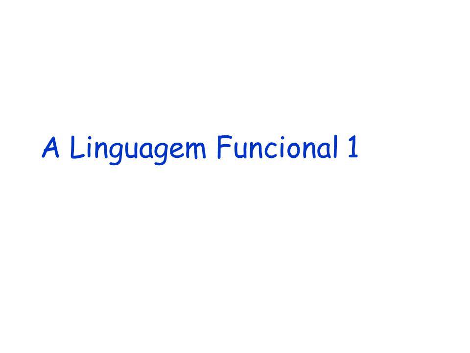 A Linguagem Funcional 1