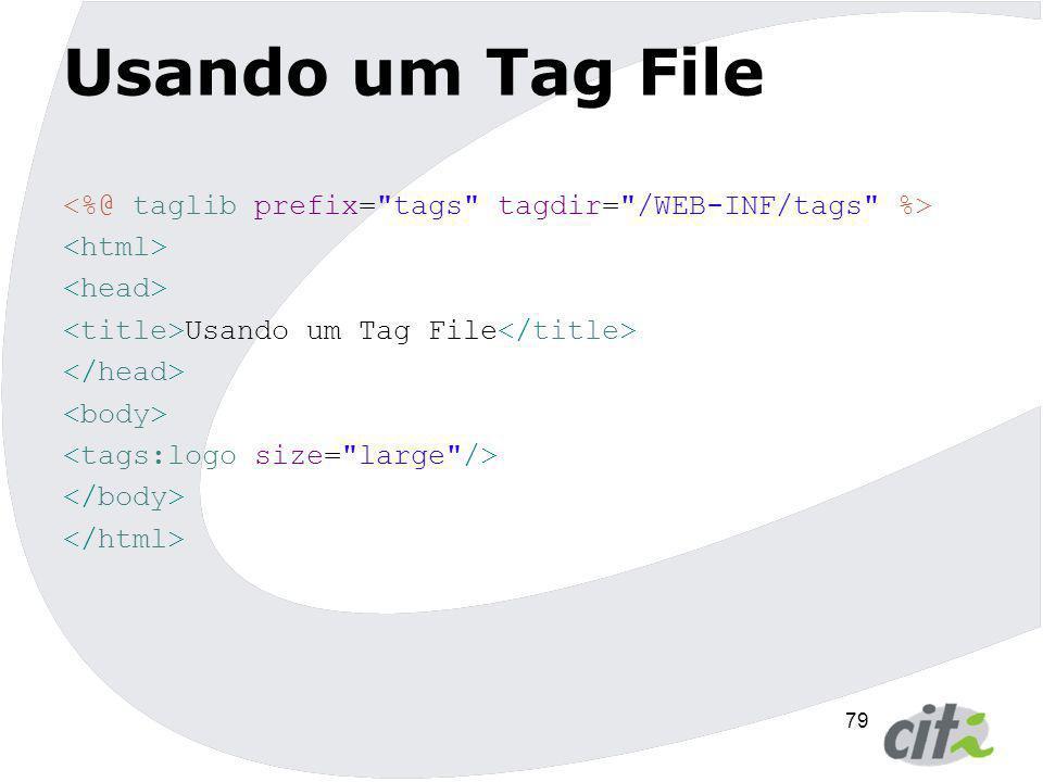 79 Usando um Tag File Usando um Tag File