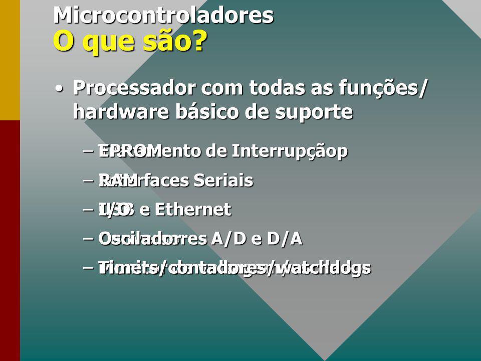 Copyright, 1998, 1999 © Sérgio Cavalcante Microcontroladores Sérgio Cavalcante Grupo de Engenharia da Computação Departamento de Informática - UFPE Sé