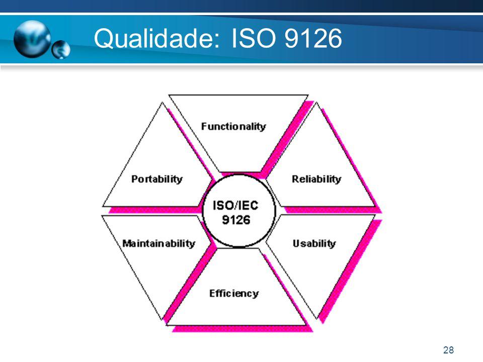 28 Qualidade: ISO 9126