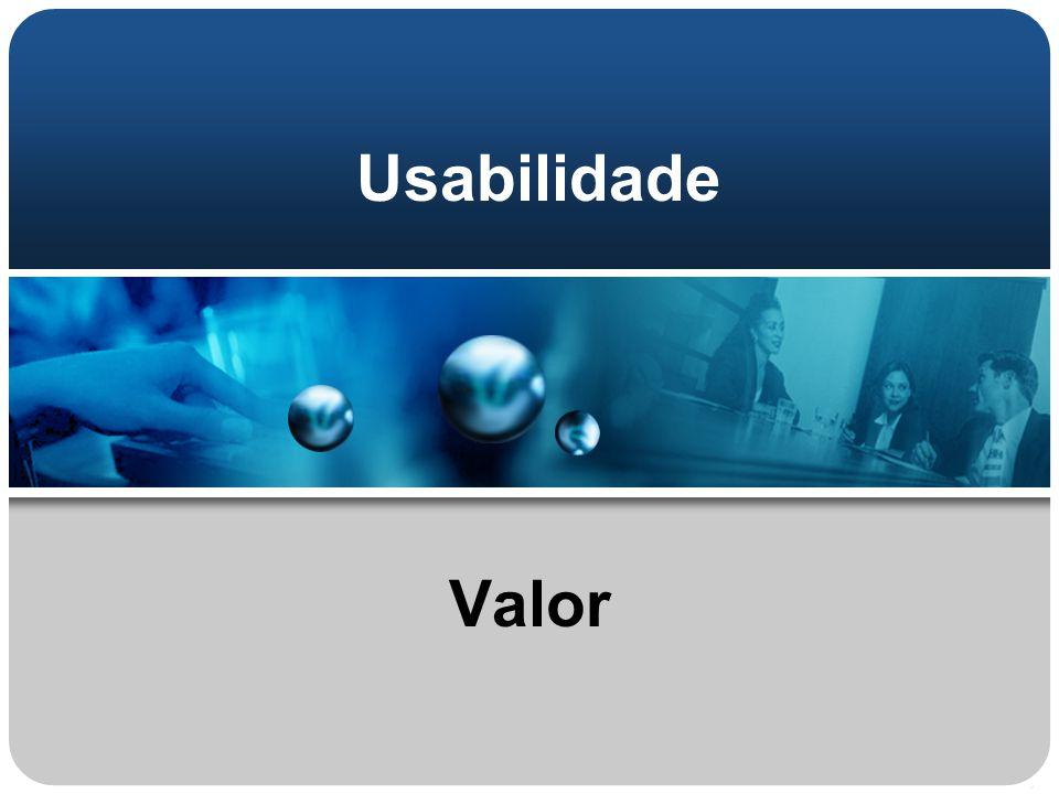 Usabilidade Valor