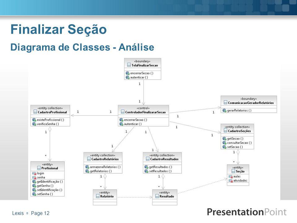 Finalizar Seção Diagrama de Classes - Análise Lexis  Page 12