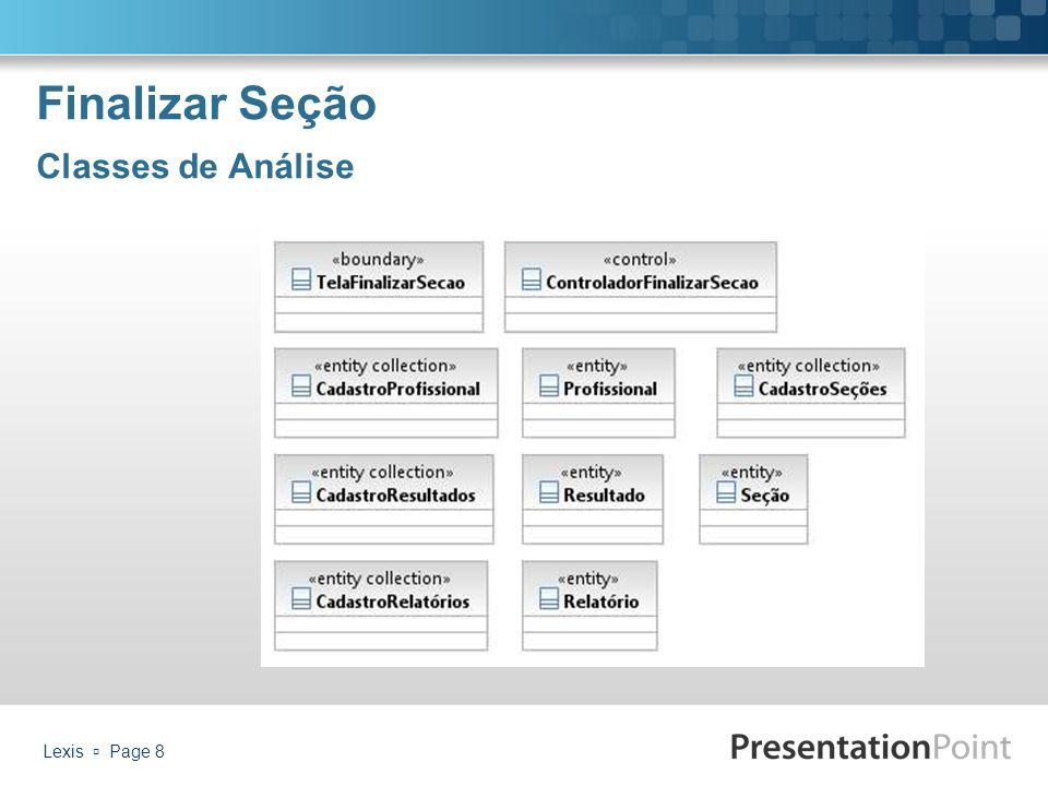 Finalizar Seção Classes de Análise Lexis  Page 8