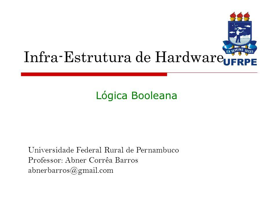 Universidade Federal Rural de Pernambuco Professor: Abner Corrêa Barros abnerbarros@gmail.com Infra-Estrutura de Hardware Lógica Booleana