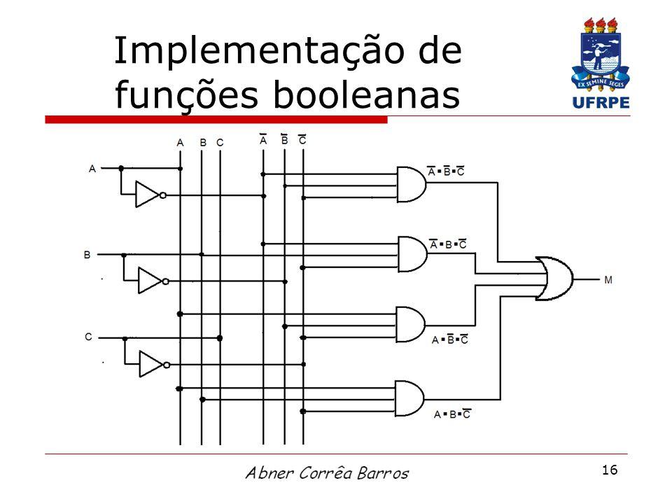 16 Implementação de funções booleanas