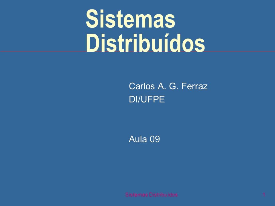 Sistemas Distribuídos12 Problema-chave n Estrutura de software Aplicação Suporte à Prog.