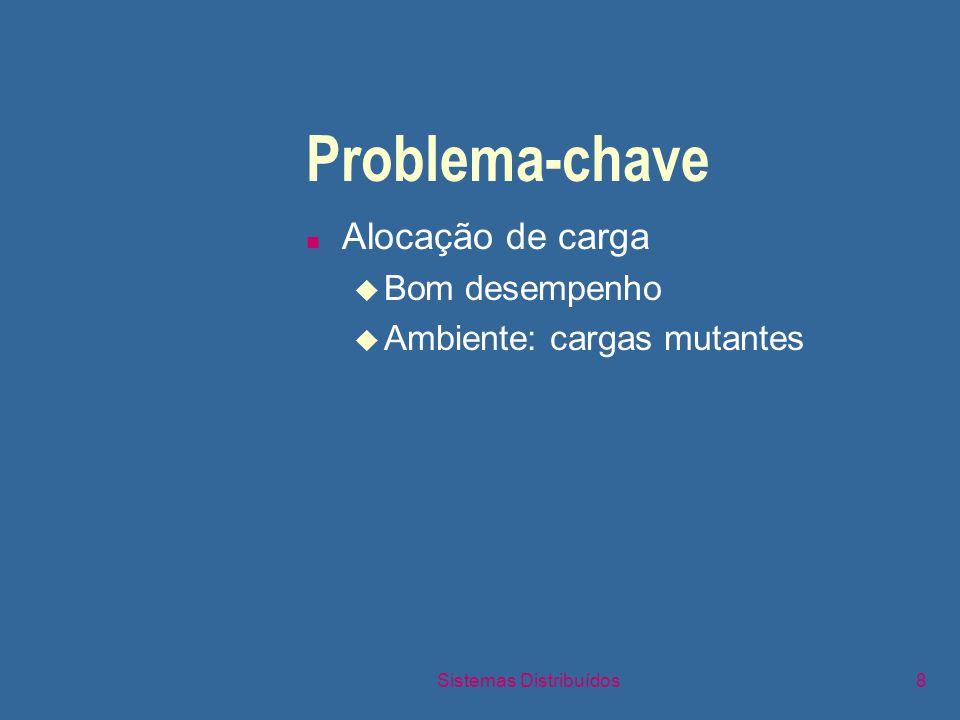 Sistemas Distribuídos9 Problema-chave n Manutenção de consistência u Razões para inconsistência F Distribuição (separação) de recursos F Concorrência