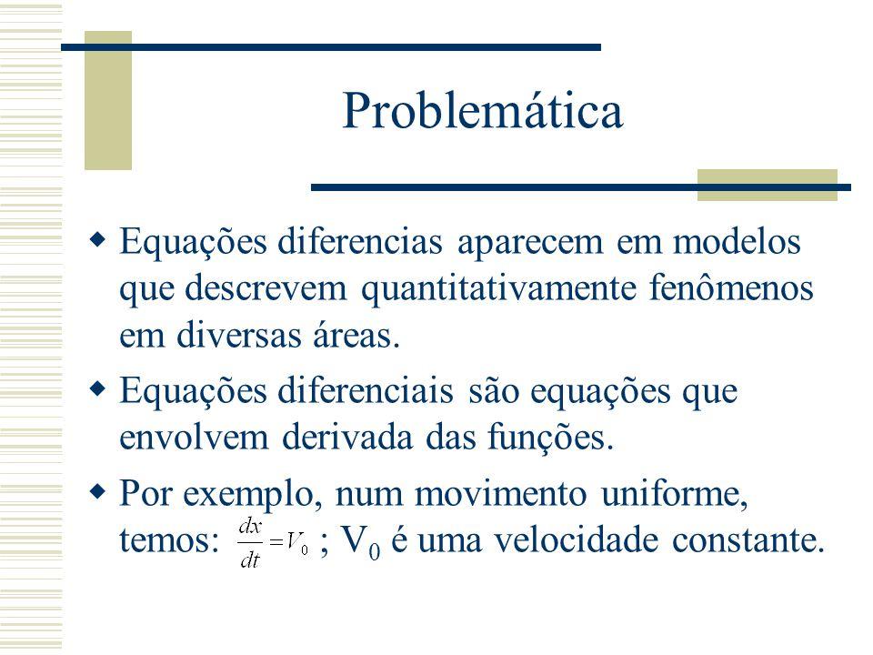 Equação diferencial ordinária  Uma equação diferencial é ordinária somente se ela tem uma variável independente:  Uma solução de uma equação diferencial ordinária é uma função de variável independente que satisfaça a equação: