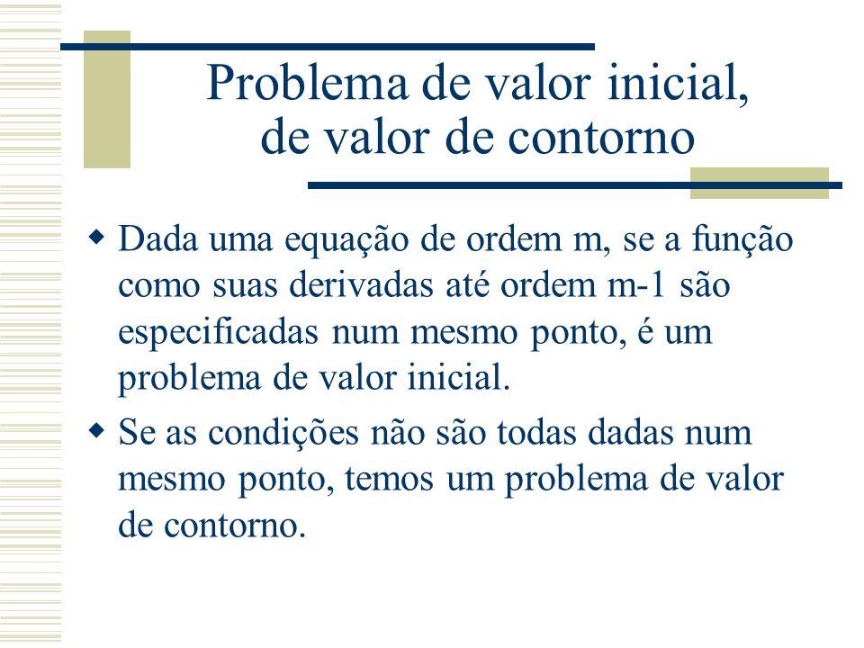 Problema de valor inicial  A razão maior do uso de métodos numéricos para encontrar solução de equações diferenciais é o fato que não existe sempre soluções analíticas.